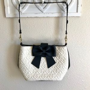 Betsey Johnson Quilted Bow Bag